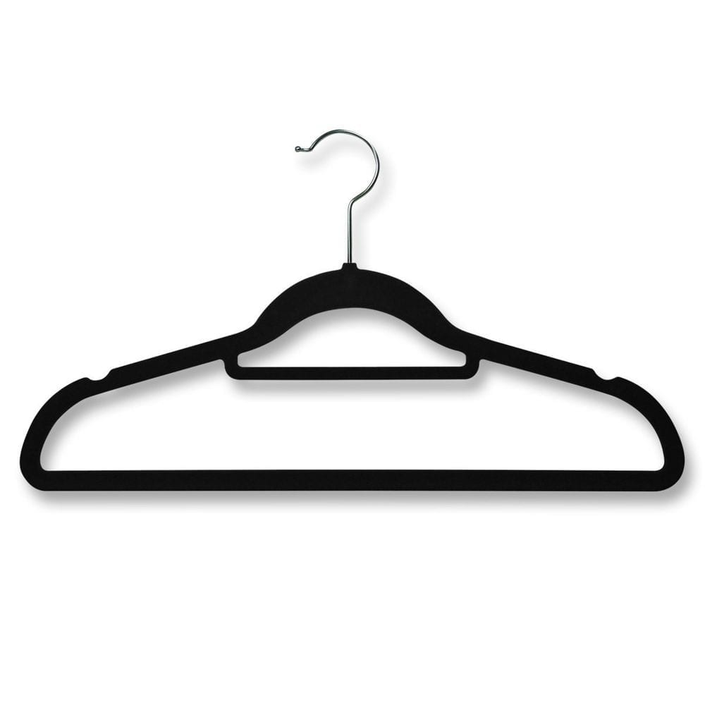 How to Organsie Your Wardrobe - Save hanging space with flat velvet covered coat hangers